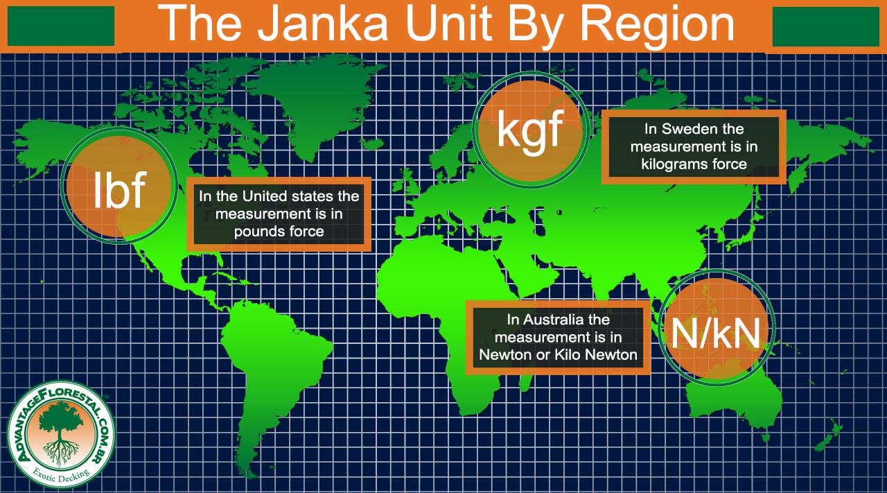 Janka hardness unit By Region
