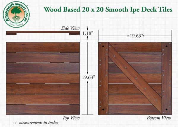 IPE hardwood deck tile