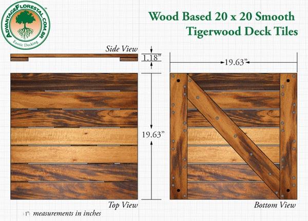 Tigerwood Deck Tile